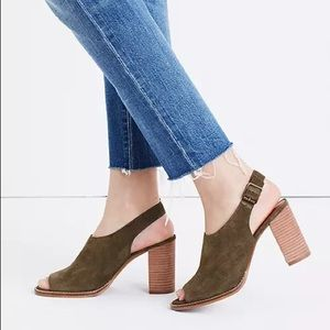 Madewell Cary Suede Sandals NWOT